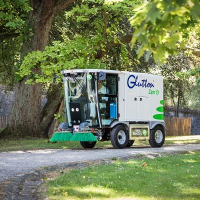 Request a demo of the Glutton® Zen® street sweeper
